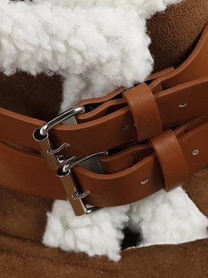 Long Sleeve Zipper Solid Casual Fur And Shearling Coats_7