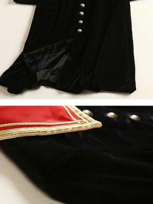 Black Solid Shift Elegant Velvet Coat_5