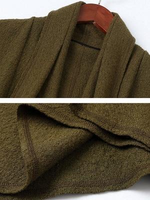 Shawl Collar Casual Long Sleeve Coat_7