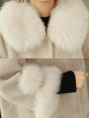 Buttoned Fluffy Shift Paneled Fur And Shearling Coats_11