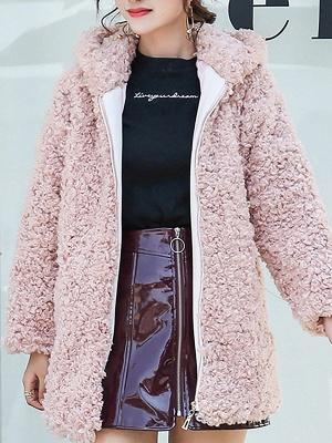 Pockets Hoodie Zipper Fur And Shearling Coats_1