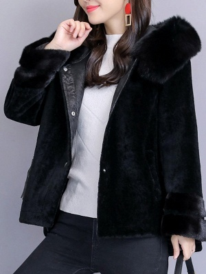 Beaded Slit Hoodie Fur And Shearling Coats_9