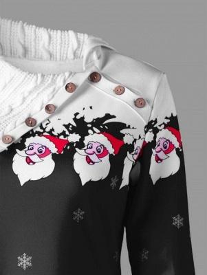 Santa Claus Printed Plus Size Tunic Sweatshirt Dress_6