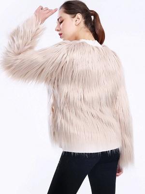 Casual Long Sleeve Fur And Shearling Coats_5