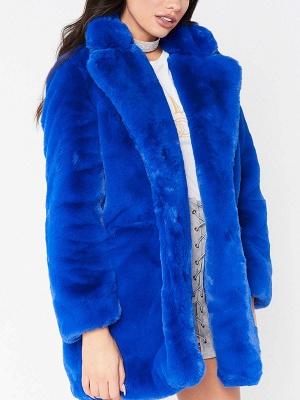 Long Sleeve Pockets Fluffy Fur and Shearling Coat_5