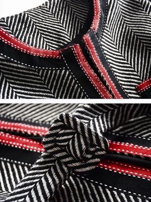 Gray Casual Long Sleeve Paneled Coat_6