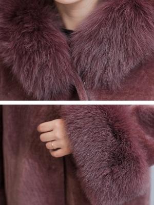 Casual Long Sleeve Hoodie Fur and Shearling Coat_8