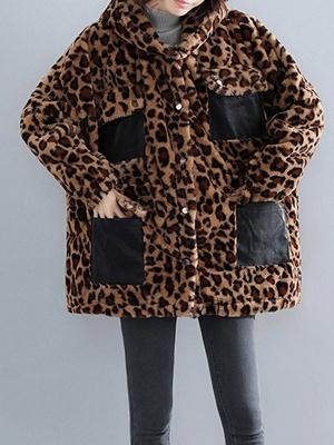 Hoodie Color-Block Fur And Shearling Coats_1