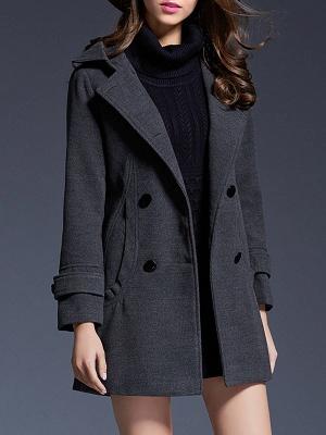 Gray Casual Long Sleeve Hoodie Coat_7