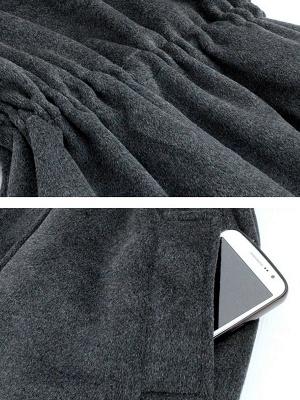 Gray Raglan Sleeve Paneled Coat_5
