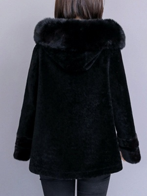Beaded Slit Hoodie Fur And Shearling Coats_6