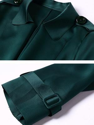 Shift Casual Long Sleeve Lapel Coat_7