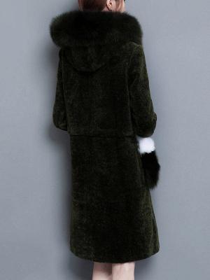 Shift Zipper Pockets Hoodie Fur and Shearling Coat_4