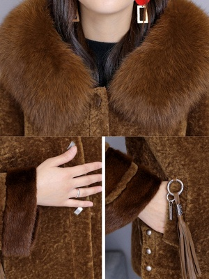 Beaded Slit Hoodie Fur And Shearling Coats_8
