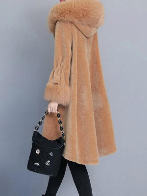 Hoodie Paneled Fluffy Fur And Shearling Coats_4
