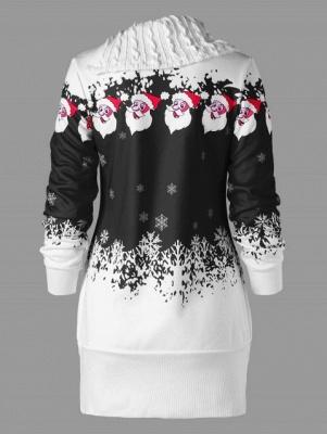 Santa Claus Printed Plus Size Tunic Sweatshirt Dress_5