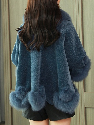 Buttoned Fluffy Shift Paneled Fur And Shearling Coats_6