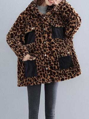 Hoodie Color-Block Fur And Shearling Coats_10