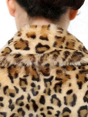 Casual Leopard Print Long Sleeve Artificial Leather And Shearling Coat_7