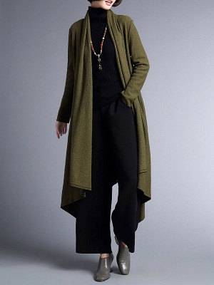 Shawl Collar Casual Long Sleeve Coat_8