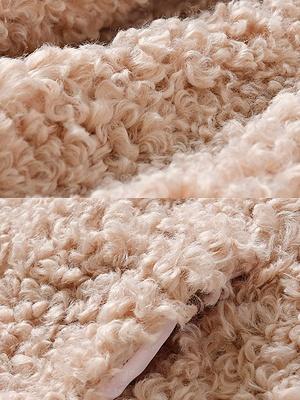 Pockets Hoodie Zipper Fur And Shearling Coats_9