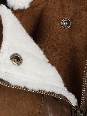 Long Sleeve Zipper Solid Casual Fur And Shearling Coats_8
