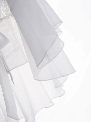 Casual Bell Sleeve Chiffon Solid Asymmetrical Coat_7