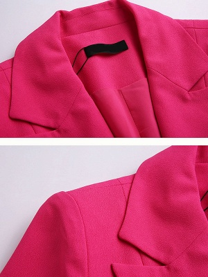 Rose Solid Buttoned Casual Coat_5