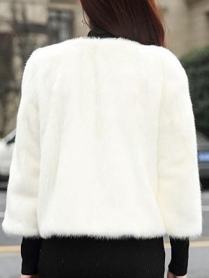 Casual Shift Long Sleeve Fur And Shearling Coats_10