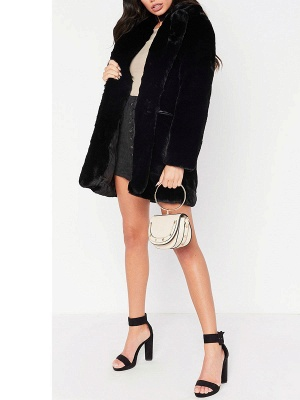 Long Sleeve Pockets Fluffy Fur and Shearling Coat_6