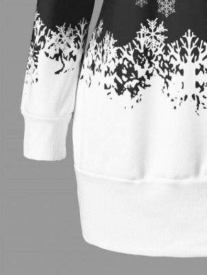Santa Claus Printed Plus Size Tunic Sweatshirt Dress_7