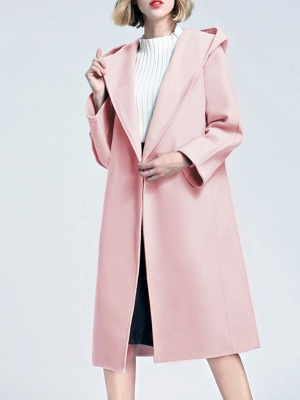 Hoodie Pockets Casual Cotton Long Sleeve Coat_10