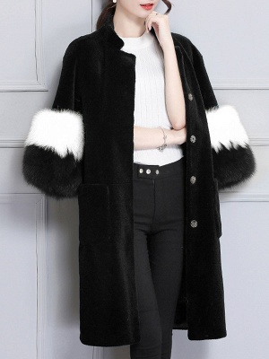 Embroidered Paneled Fur and Shearling Coat_6