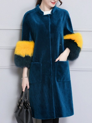 Embroidered Paneled Fur and Shearling Coat_1