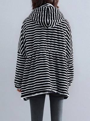 Hoodie Color-Block Fur And Shearling Coats_9