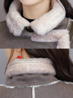 Casual Long Sleeve Fur And Shearling Coats_8