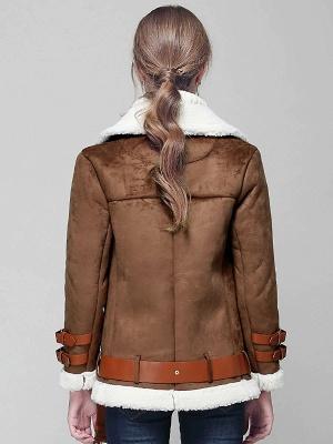 Long Sleeve Zipper Solid Casual Fur And Shearling Coats_4