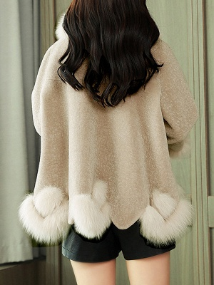 Buttoned Fluffy Shift Paneled Fur And Shearling Coats_13