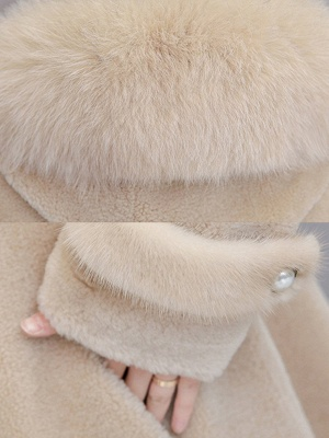 Casual Solid Long Sleeve Fur And Shearling Coats_8