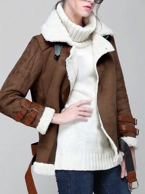 Long Sleeve Zipper Solid Casual Fur And Shearling Coats_10