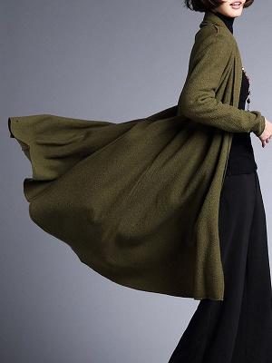 Shawl Collar Casual Long Sleeve Coat_9