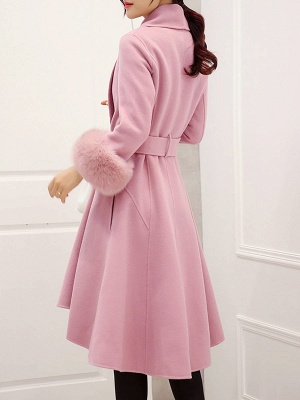 High Low Bow Asymmetric Solid Fur And Shearling Coats_5