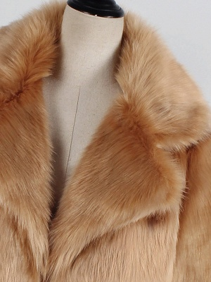 Yellow Brown Long Sleeve Casual Fluffy Fur And Shearling Coats - StyleWe.com_7