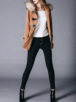 Tencel Hoodie Casual Zipper Buttoned Pockets Solid Coat_7