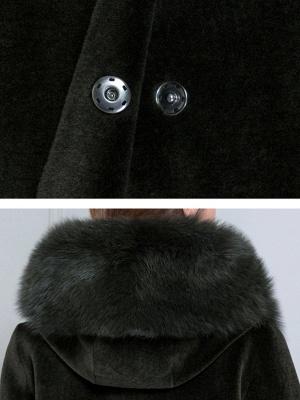 Long Sleeve Pockets Hoodie Shift Casual Fluffy  Coat_10
