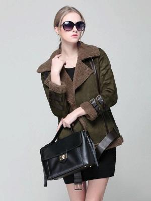Long Sleeve Zipper Solid Casual Fur And Shearling Coats_6