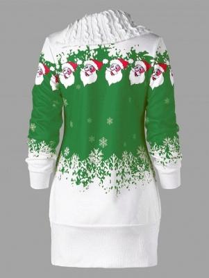 Santa Claus Printed Plus Size Tunic Sweatshirt Dress_8