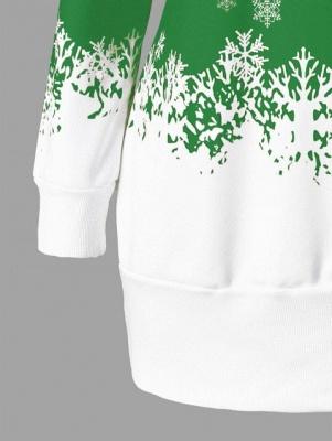 Santa Claus Printed Plus Size Tunic Sweatshirt Dress_10