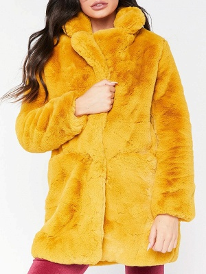 Long Sleeve Pockets Fluffy Fur and Shearling Coat_4