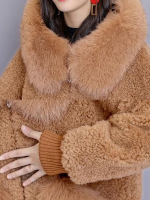Hoodie Paneled Fluffy Solid Fur And Shearling Coats_12